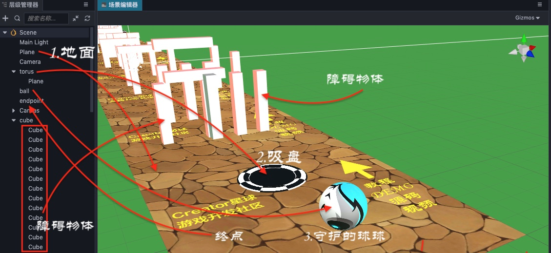 Creator3D 守护你的球球—UV动画与天空盒插图(1)